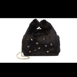SAM EDELMAN FAUX FUR SHOULDER PURSE